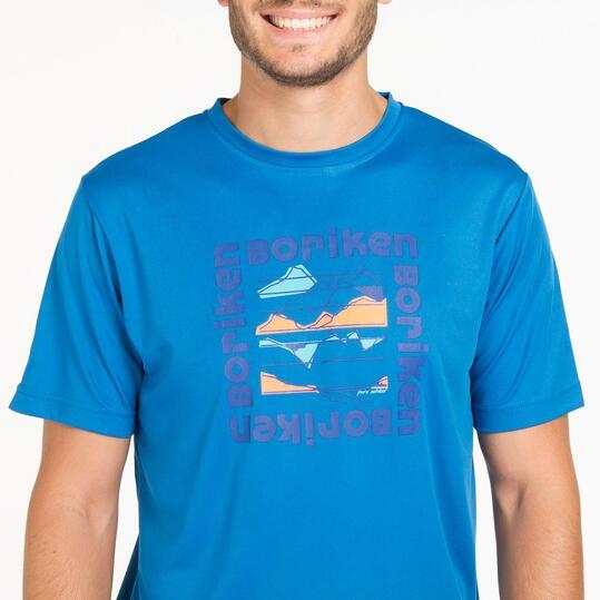 Camiseta Azul BORIKEN HUNZA Hombre