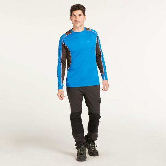 Camiseta Manga Larga BORIKEN HUNZA Azul Hombre