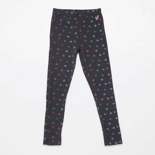 Leggins Estampados UP BASIC Gris Oscuro Niña (2-8)