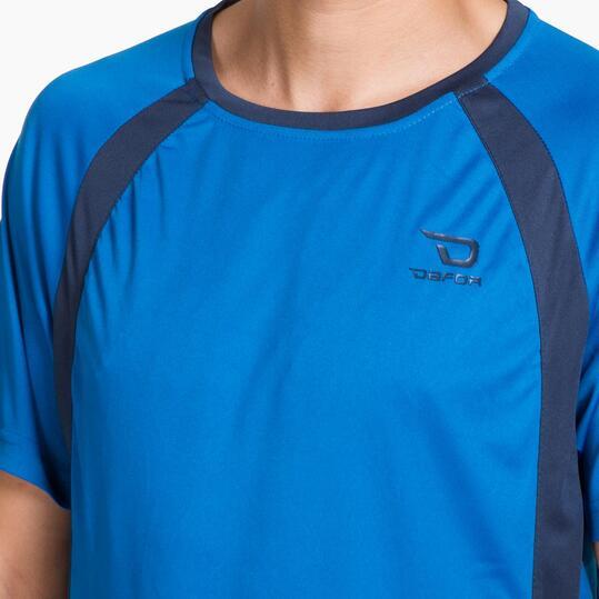 Camiseta Fútbol Manga Corta DAFOR Azul Hombre