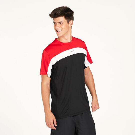 Camiseta Tenis PRONTO Negra Roja Hombre