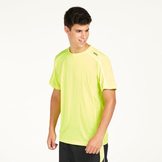 Camiseta Pádel PRONTO Amarillo Hombre
