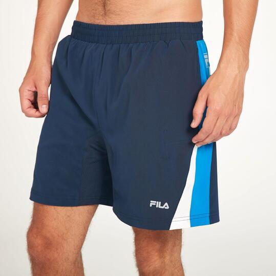 FILA Pantalón Corto Tenis Marino Hombre