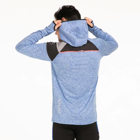 FILA Camiseta Capucha Running Azul Hombre