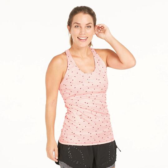 FILA Camiseta Tirantes Tenis Coral Mujer