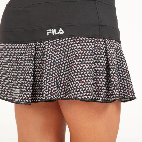 FILA Falda Pantalón Tenis Negra Mujer