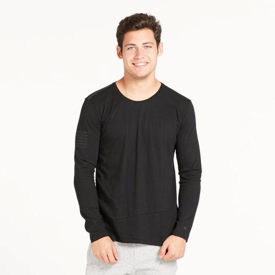 Camiseta Cremallera SILVER Negro Hombre