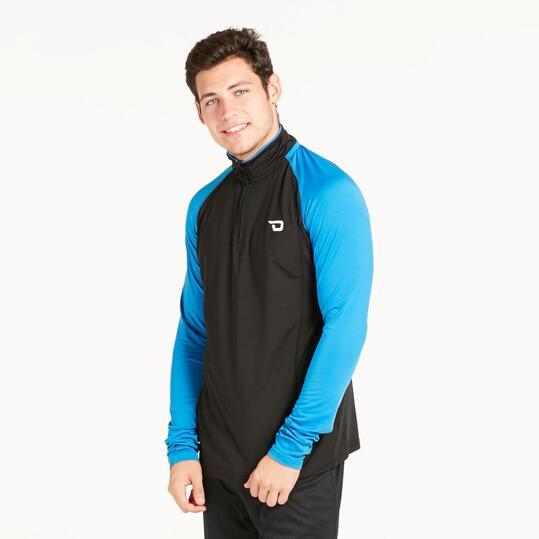 Camiseta Térmica DAFOR Negro Azul Hombre