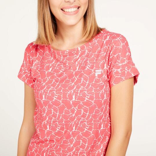 FILA Camiseta Running Estampada Mujer