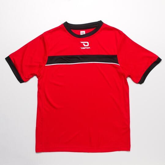 Camiseta Fútbol DAFOR Rojo Niño (6-16)