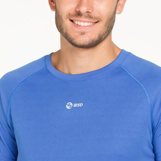 Camiseta Running IPSO BASIC Azul Hombre