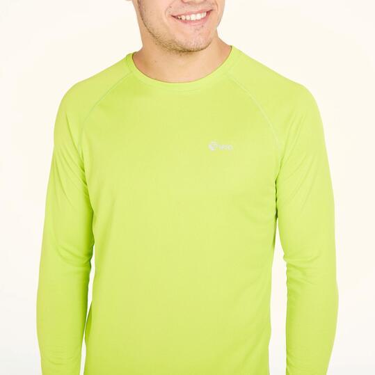 Camiseta Manga Larga Running IPSO BASIC Pistacho Hombre