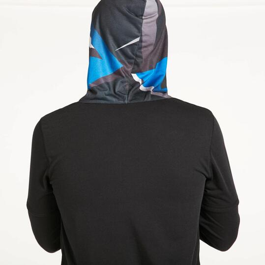 Camiseta Capucha SILVER GEOMETRIC  Negro Rojo Hombre