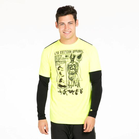 Camiseta Doble Manga SILVER TECH Amarillo Hombre