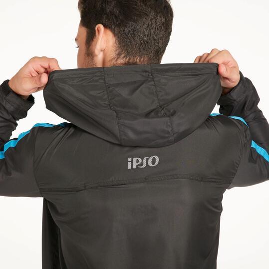 Cortavientos Running IPSO COMBI Negro Azul Hombre
