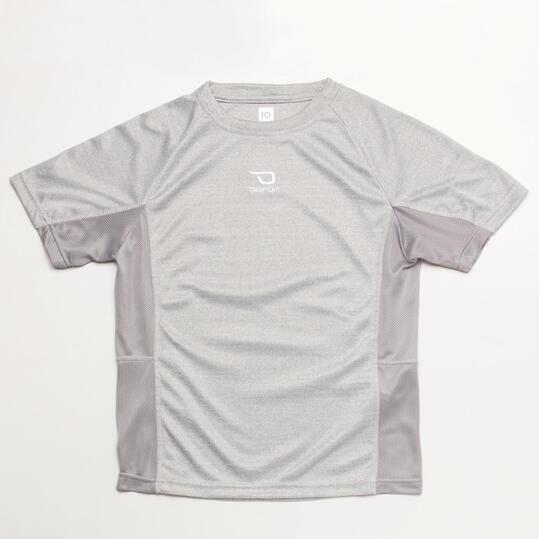 Camiseta Fútbol DAFOR Gris Niño (8-16)