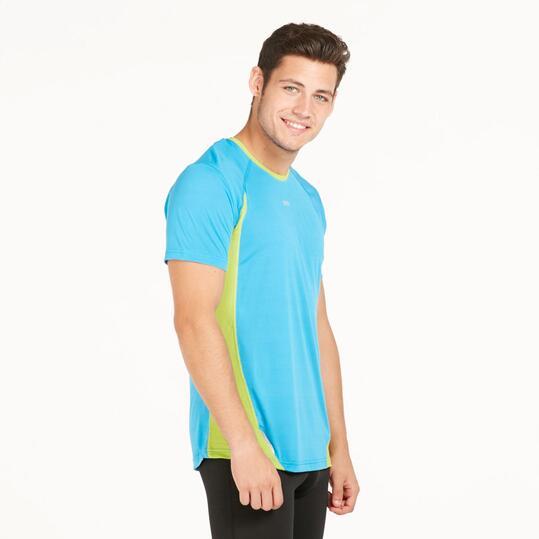Camiseta Running IPSO COMBI Azul Hombre