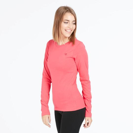 Camiseta Manga Larga UP BASIC Roja Mujer