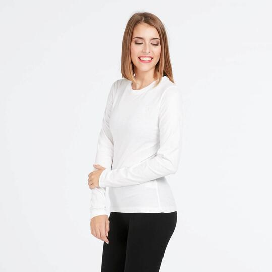 Camiseta Manga Larga UP BASIC Blanca Mujer