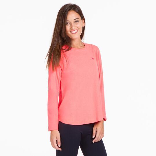 Camiseta Larga UP BASIC Coral Mujer