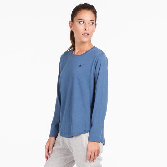 Camiseta Larga UP BASIC Denim Mujer