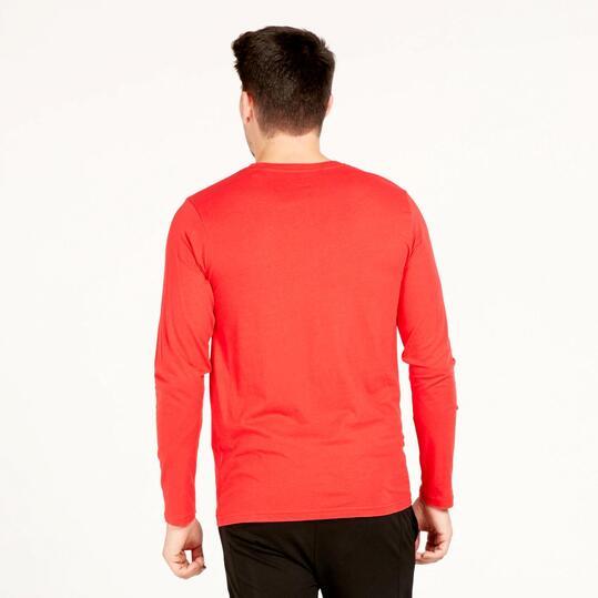 Camiseta Manga Larga UP BASIC Rojo Hombre