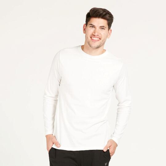 Camiseta Manga Larga UP BASIC Blanca Hombre