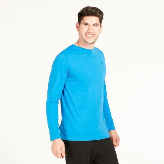 Camiseta Manga Larga UP BASIC Azul Hombre