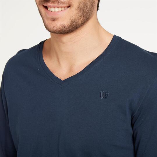 Camiseta Pico UP BASIC Marino Hombre