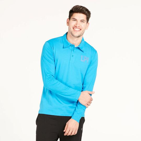 Polo Manga Larga UP BASIC Azul Hombre