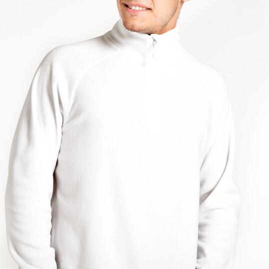 Forro Polar UP BASIC Cuello Zip Blanco Hombre