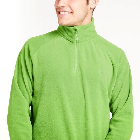 Forro Polar UP BASIC Cuello Zip Verde Hombre