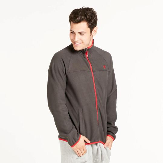 Forro Polar UP BASIC Reversible Gris Rojo Hombre
