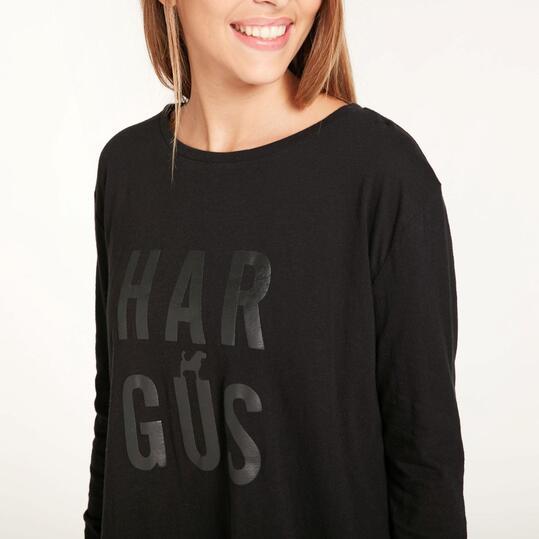 Camiseta Manga Larga HARGUS Negra Mujer