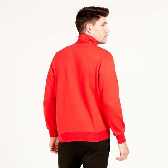 Sudadera Polar Cuello UP BASIC Rojo Hombre