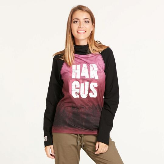 Camiseta Manga Larga HARGUS Capucha Mujer