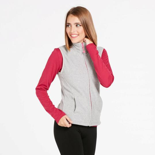 Chaleco Polar UP BASIC Gris Mujer