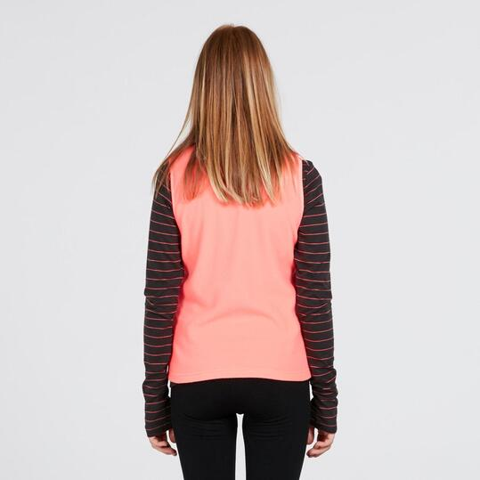 Chaleco Polar UP BASIC Coral Mujer