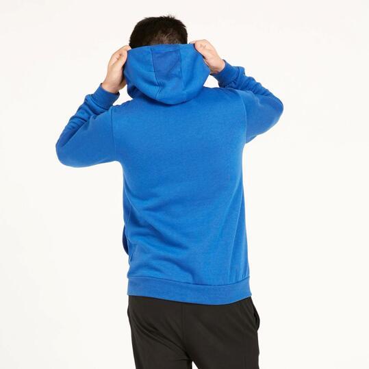 Sudadera Capucha UP BASIC Estampado Azul Hombre