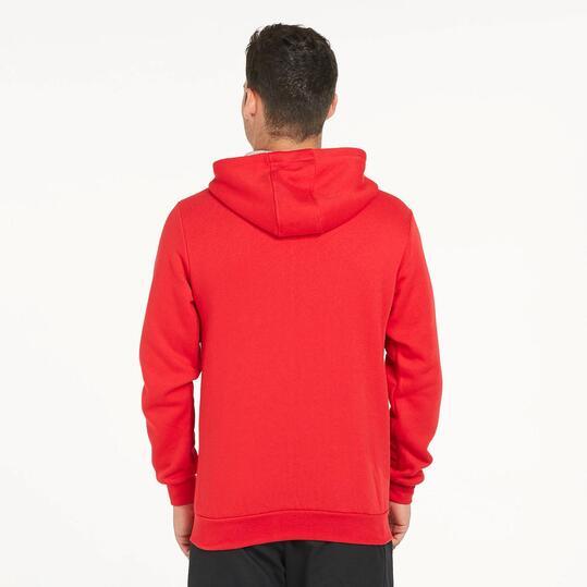 Sudadera Capucha UP BASIC Rojo Hombre