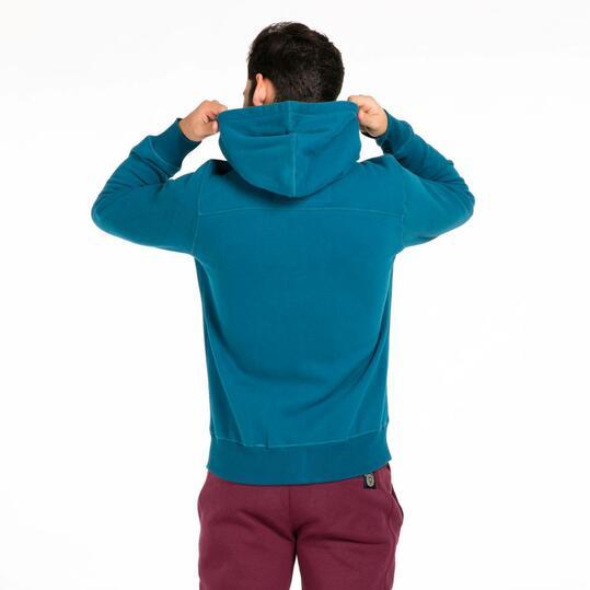 Sudadera Capucha Hargus Azul Hombre