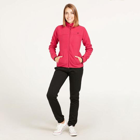 Forro Polar UP BASIC Reversible Fucsia Negro Mujer
