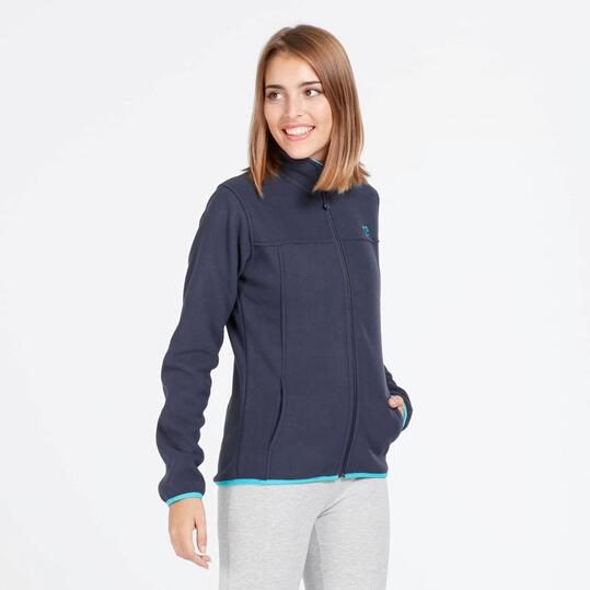 Forro Polar UP BASIC Reversible Marino Turquesa Mujer