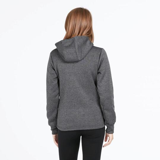 Forro Polar UP BASIC Capucha Gris Oscuro Mujer