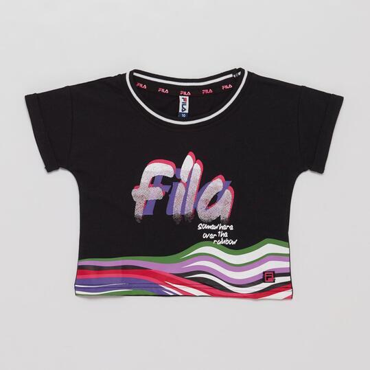 FILA Crop Top Negro Multicolor Niña (10-16)