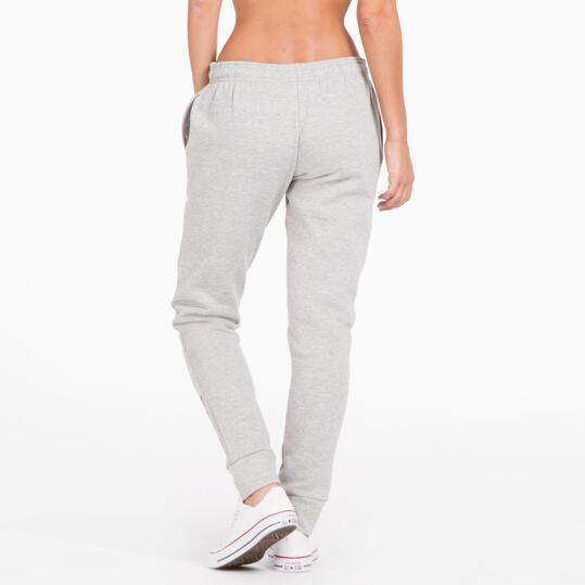 Pantalón Largo Puños UP BASIC Gris Mujer