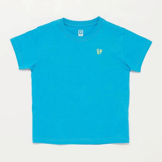 Camiseta Manga Corta UP BASIC Azul Niño (2-8)