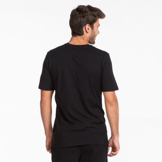 NIKE Camiseta Negra Hombre