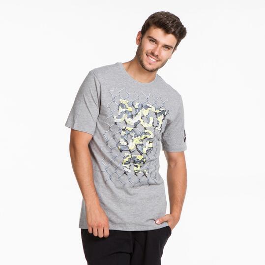 NIKE Camiseta Gris Hombre