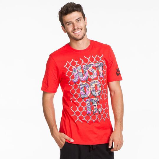 NIKE Camiseta Roja Hombre